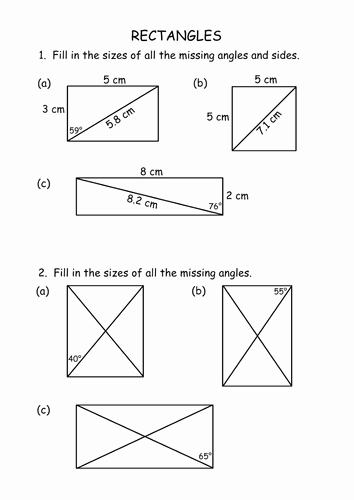 Area Of Rhombus Worksheet Fresh Angles In Quadrilaterals by Tumshy