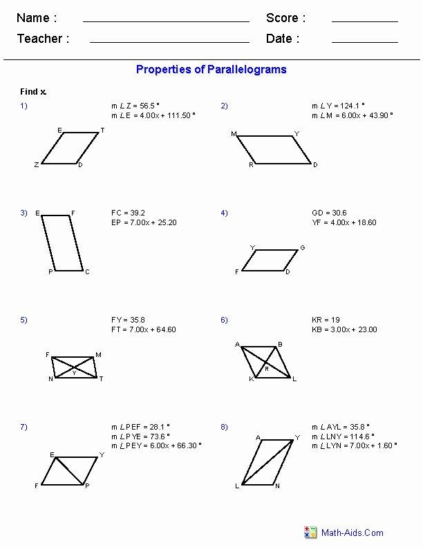 Area Of Rhombus Worksheet Fresh area Parallelogram Worksheet