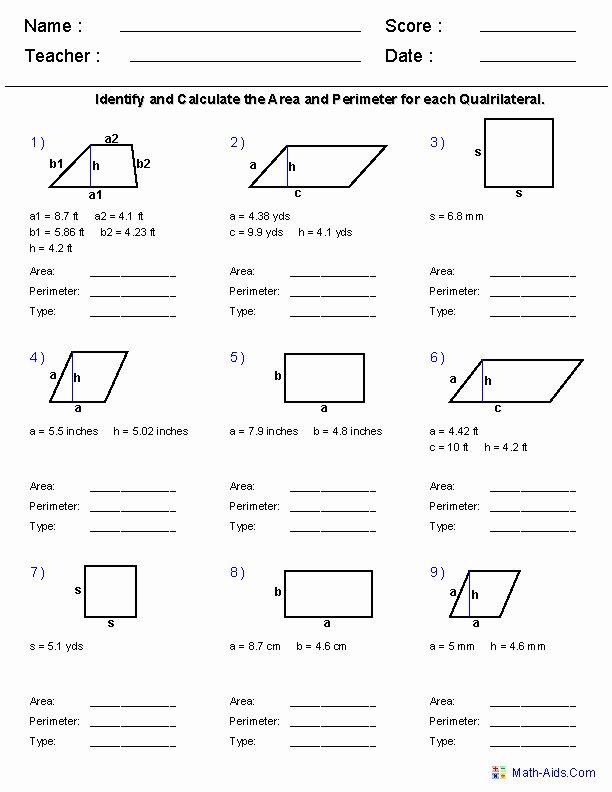 Area Of Rhombus Worksheet Inspirational area Parallelogram Worksheet