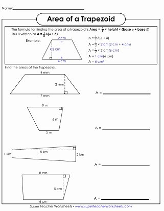 Area Of Rhombus Worksheet Lovely area Of Parallelograms & Trapezoids Worksheets