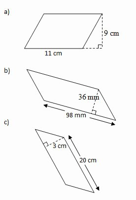 Area Of Rhombus Worksheet Lovely area Of Parallelograms Worksheets and solutions