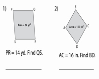 Area Of Rhombus Worksheet New area Of Rhombus Worksheets