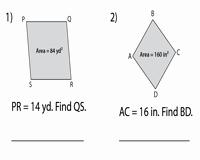 Area Of Rhombus Worksheet New area Of Rhombus Worksheets