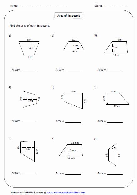 Area Of Rhombus Worksheet New Quadrilateral Worksheets
