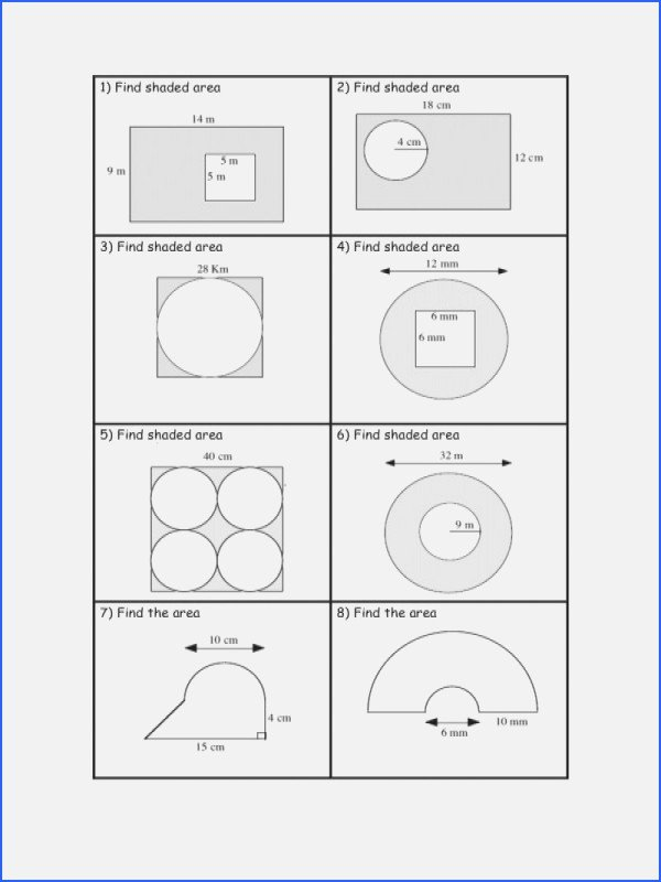 Area Of Shaded Region Worksheet Awesome Shaded area Worksheet the Best Worksheets Image Collection
