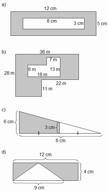 Area Of Shaded Region Worksheet Best Of area Of Shaded Region Worksheets Rectangles and Triangles