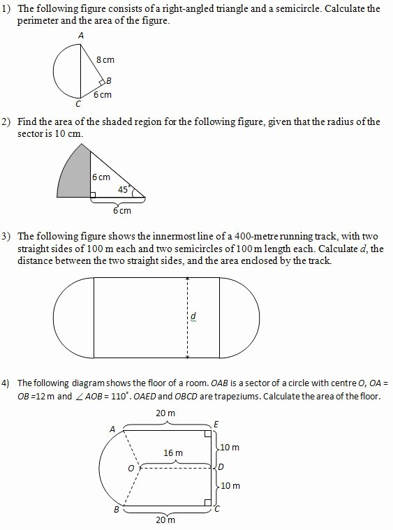 Area Of Shaded Region Worksheet Elegant area Of Figures that Include Circles Part 2 Worksheets