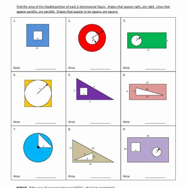 Area Of Shaded Region Worksheet Inspirational area Shaded Region Worksheet