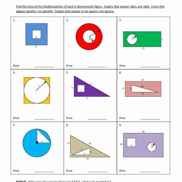 Area Of Shaded Region Worksheet Inspirational area Shaded Region Worksheet