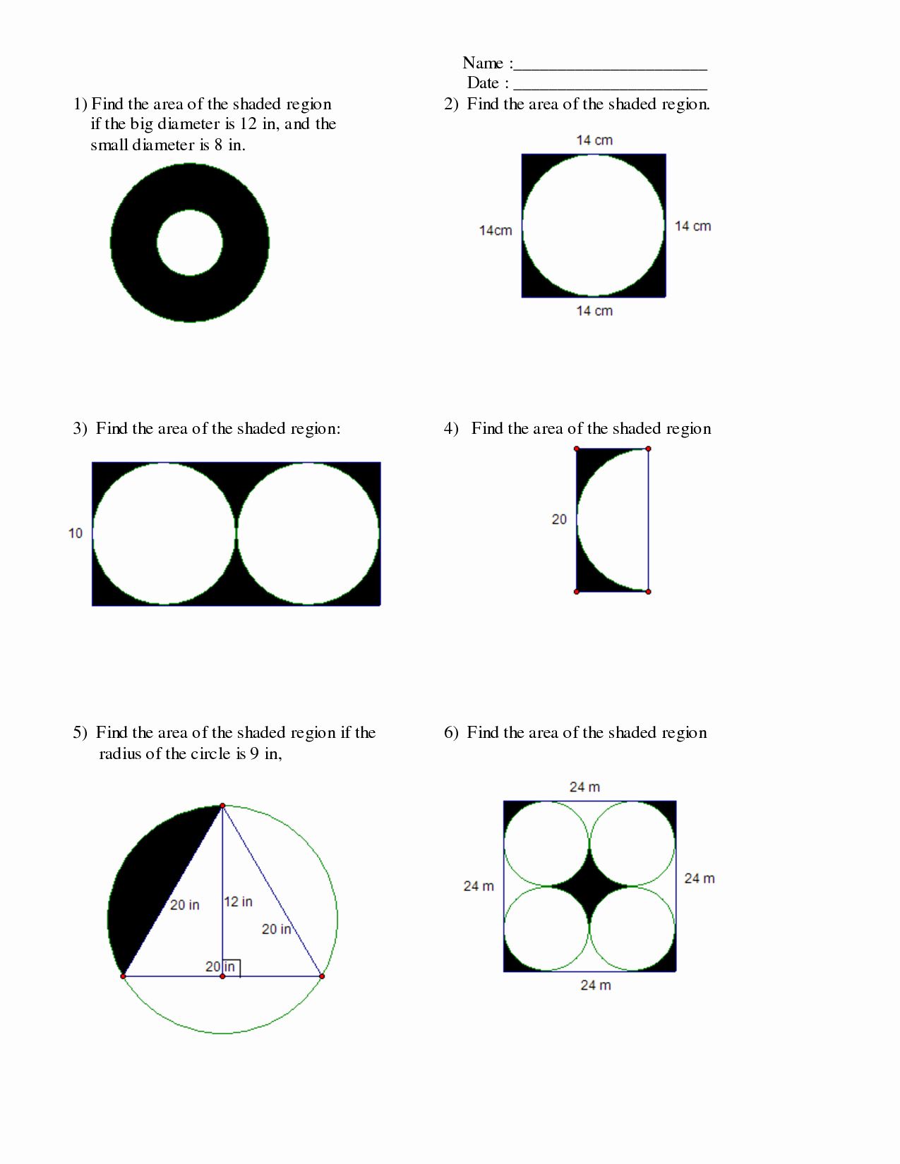 Area Of Shaded Region Worksheet Inspirational Find the area the Shaded Region Worksheet the Best