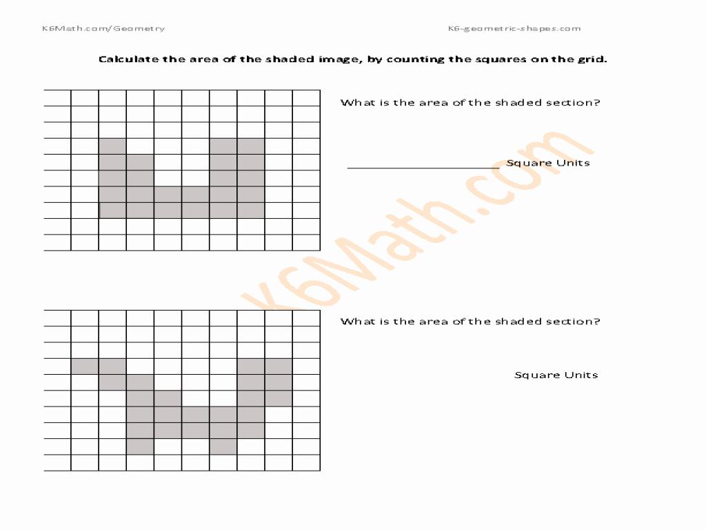 Area Of Shaded Region Worksheet Lovely Calculate the area Of Shaded Squares Worksheet for 2nd