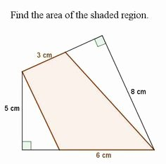 Area Of Shaded Region Worksheet Unique 8th Grade Math Geometry On Pinterest