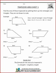 Area Of Trapezoid Worksheet Beautiful 1000 Images About area & Perimeter Worksheets On