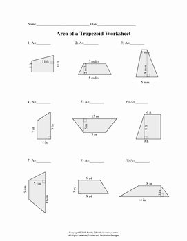 Area Of Trapezoid Worksheet Best Of Family 2 Family Learning Resources Teaching Resources
