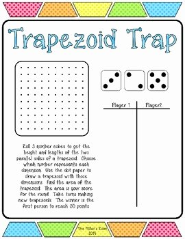 Area Of Trapezoid Worksheet Fresh Trapezoid Trap Freebie Finding the area Of Trapezoids by