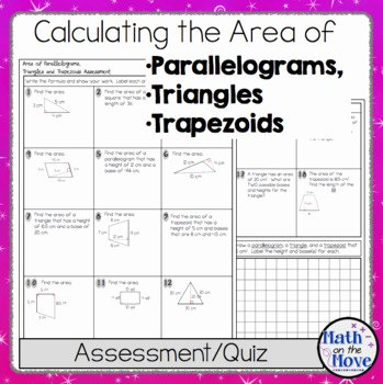 Area Of Trapezoid Worksheet Lovely area Of Parallelograms Triangles and Trapezoids