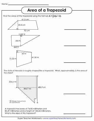 Area Of Trapezoid Worksheet Lovely area Parallelogram Worksheet