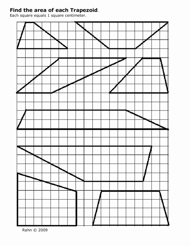 Area Of Trapezoid Worksheet Luxury Find the area Of Each Trapezoid Worksheet for 9th 12th
