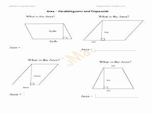 Area Of Trapezoid Worksheet Luxury Printables area A Trapezoid Worksheet Messygracebook