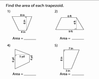 Area Of Trapezoid Worksheet New area Of Trapezoids Worksheets
