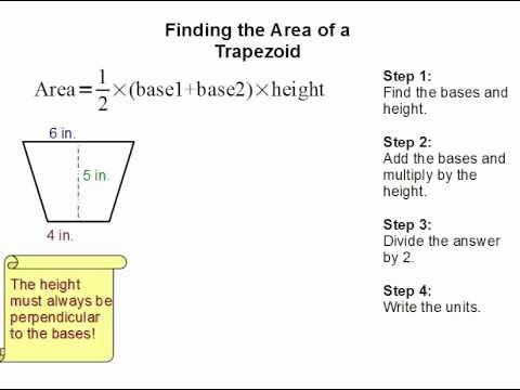 Area Of Trapezoid Worksheet New How to Find the area Of A Trapezoid