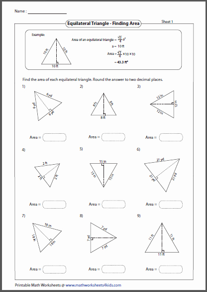 Area Of Triangles Worksheet Pdf Best Of Triangles Worksheets