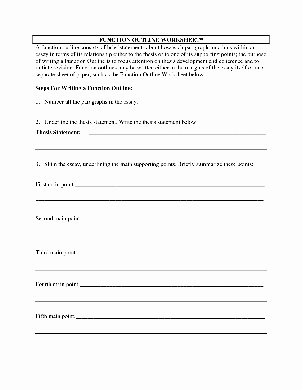 Argumentative Essay Outline Worksheet Fresh 16 Best Of Essay format Worksheet 5 Paragraph