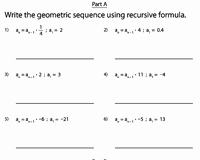 Arithmetic and Geometric Sequences Worksheet Lovely Recursive Sequence Worksheets