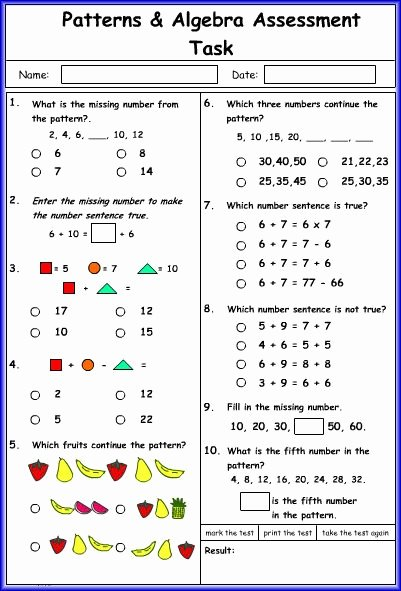Arithmetic Sequence Worksheet Algebra 1 Awesome Pattern and Algebra Math Worksheet Luca Maths