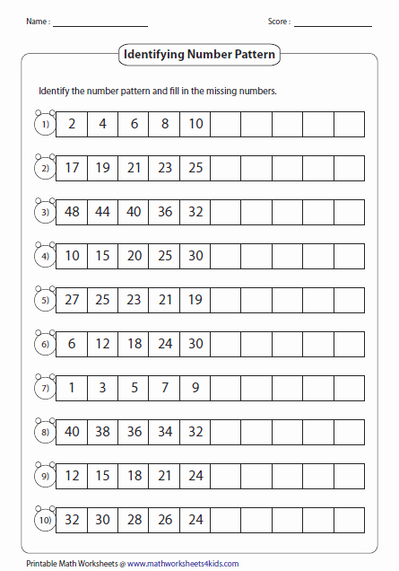 Arithmetic Sequence Worksheet Algebra 1 Elegant Pattern Worksheets