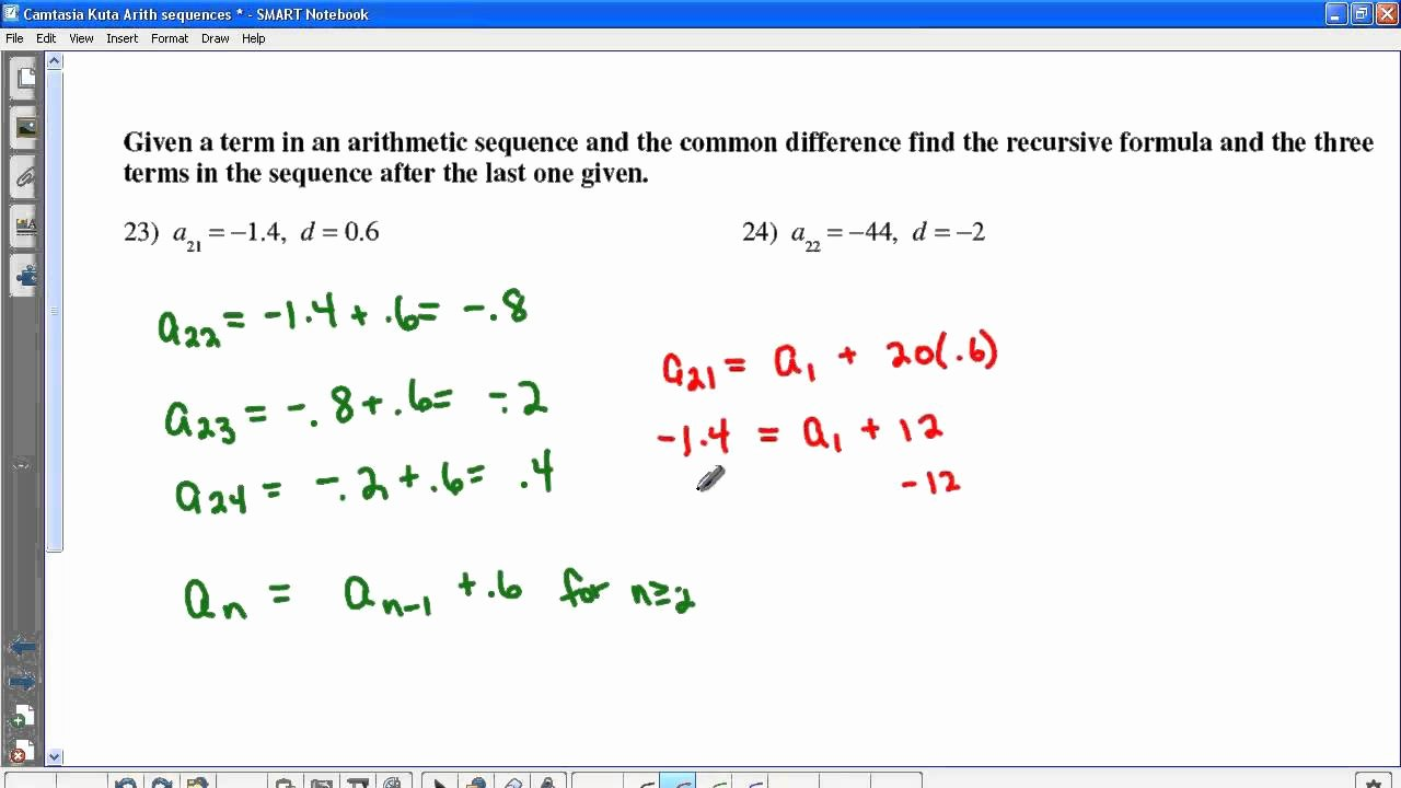 Arithmetic Sequence Worksheet Algebra 1 Unique Kuta Worksheets Geometry
