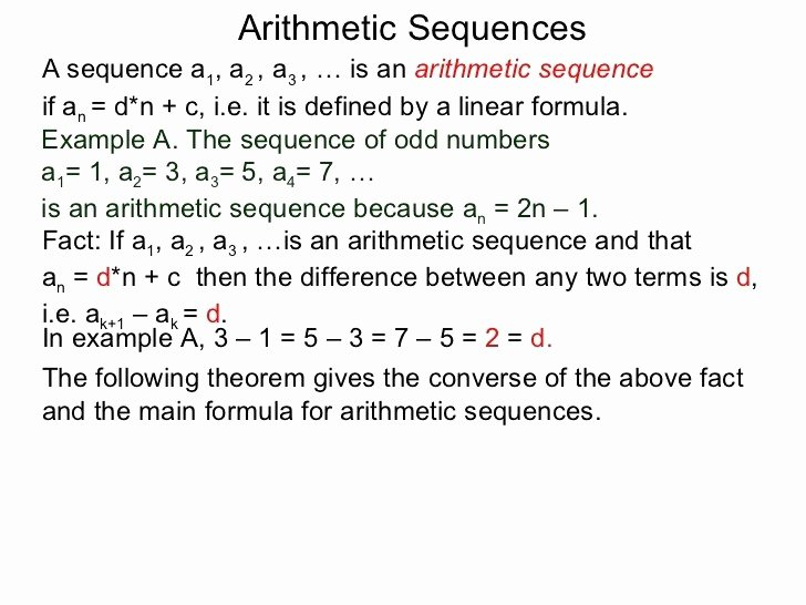 Arithmetic Sequence Worksheet Answers Awesome 24 Beautiful Arithmetic Sequence Worksheet with Answers