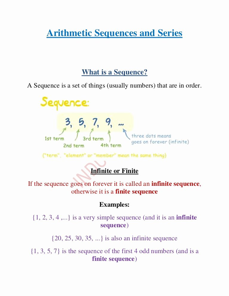 Arithmetic Sequence Worksheet Answers Best Of Dentrodabiblia Arithmetic Sequences Worksheet Answers