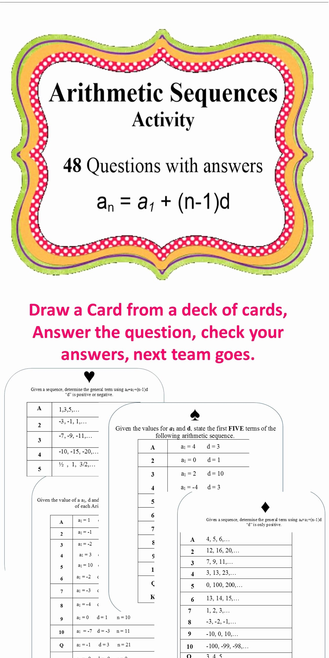 Arithmetic Sequence Worksheet Answers Elegant Dentrodabiblia Arithmetic Sequences Worksheet Answers