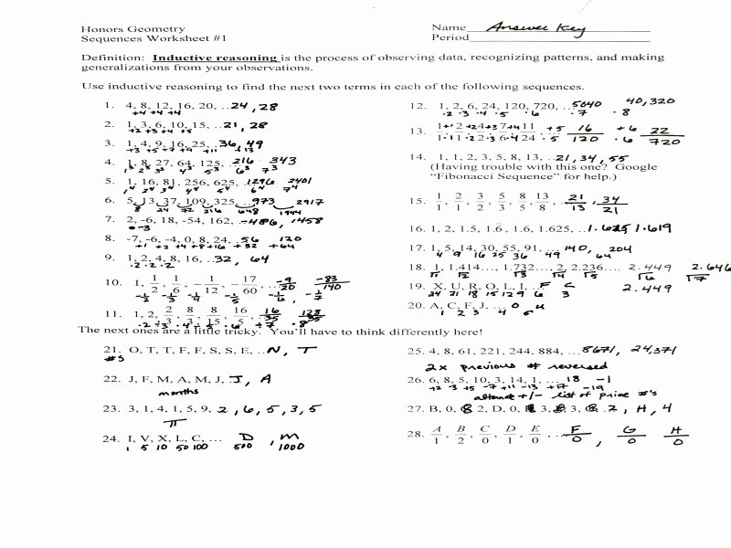 Arithmetic Sequence Worksheet Answers New Unit 1 Sequences and Series Mr Roos Hempstead High