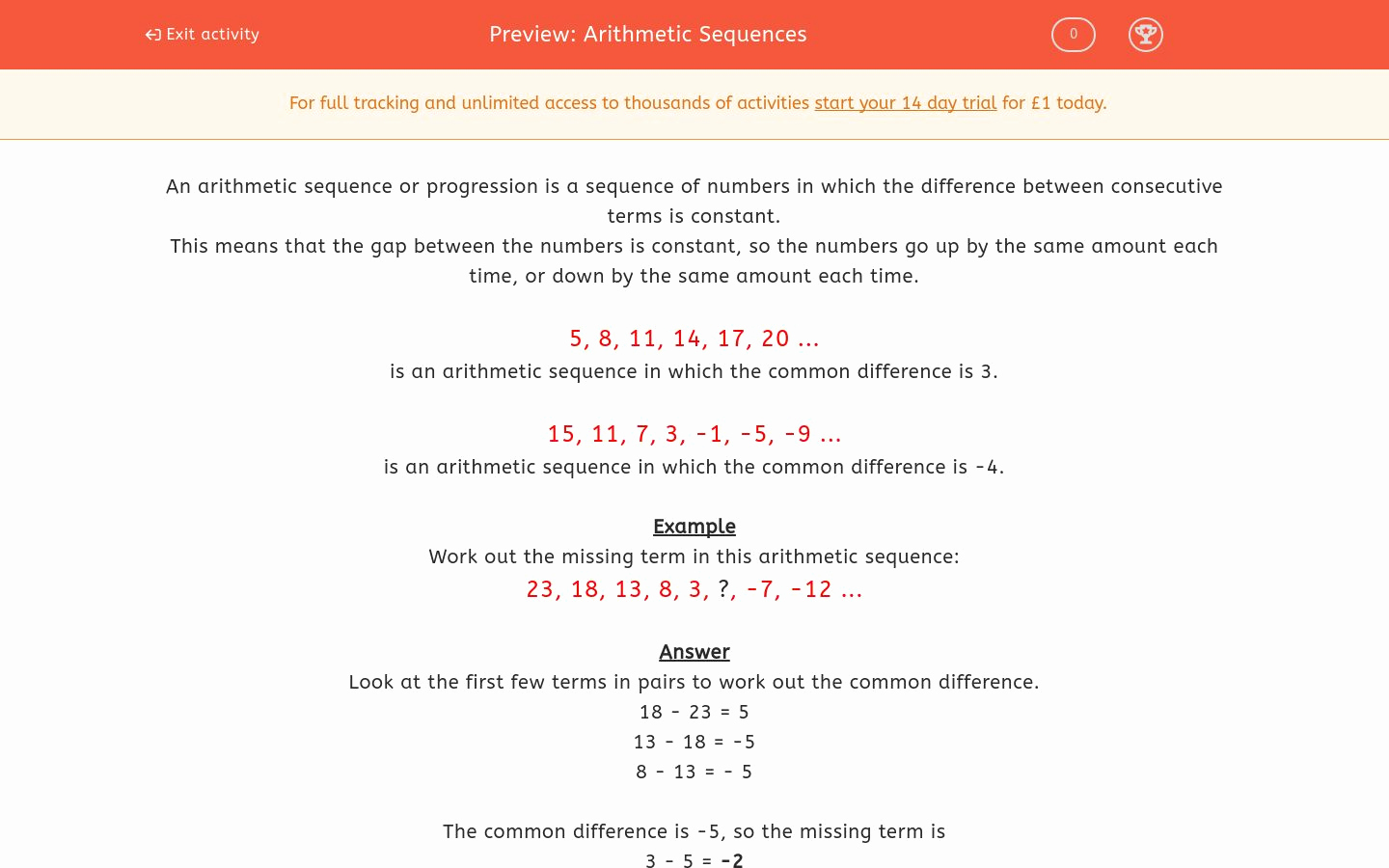 Arithmetic Sequence Worksheet with Answers Fresh Arithmetic Sequences Worksheet Edplace