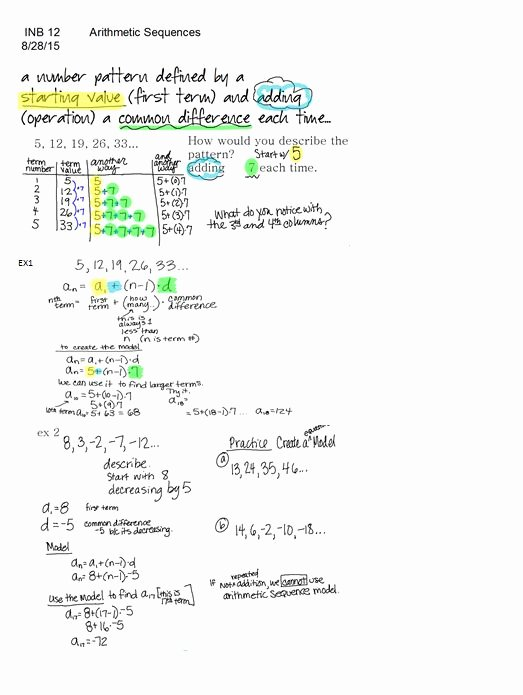 Arithmetic Sequence Worksheet with Answers Fresh Dentrodabiblia Arithmetic Sequences Worksheet Answers