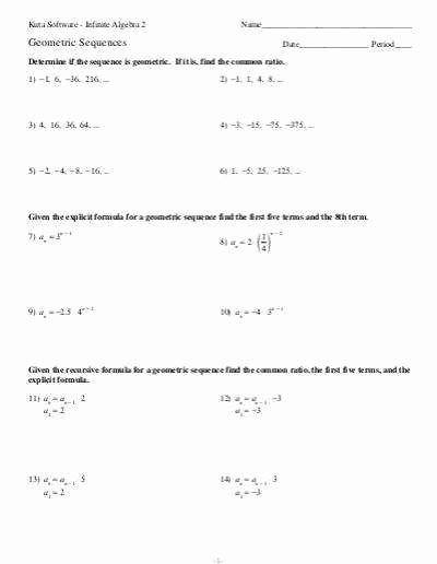 Arithmetic Sequence Worksheet with Answers New Arithmetic Sequences Worksheet