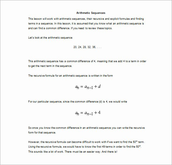 Arithmetic Sequences Worksheet Answers Best Of Dentrodabiblia Arithmetic Sequences Worksheet Answers