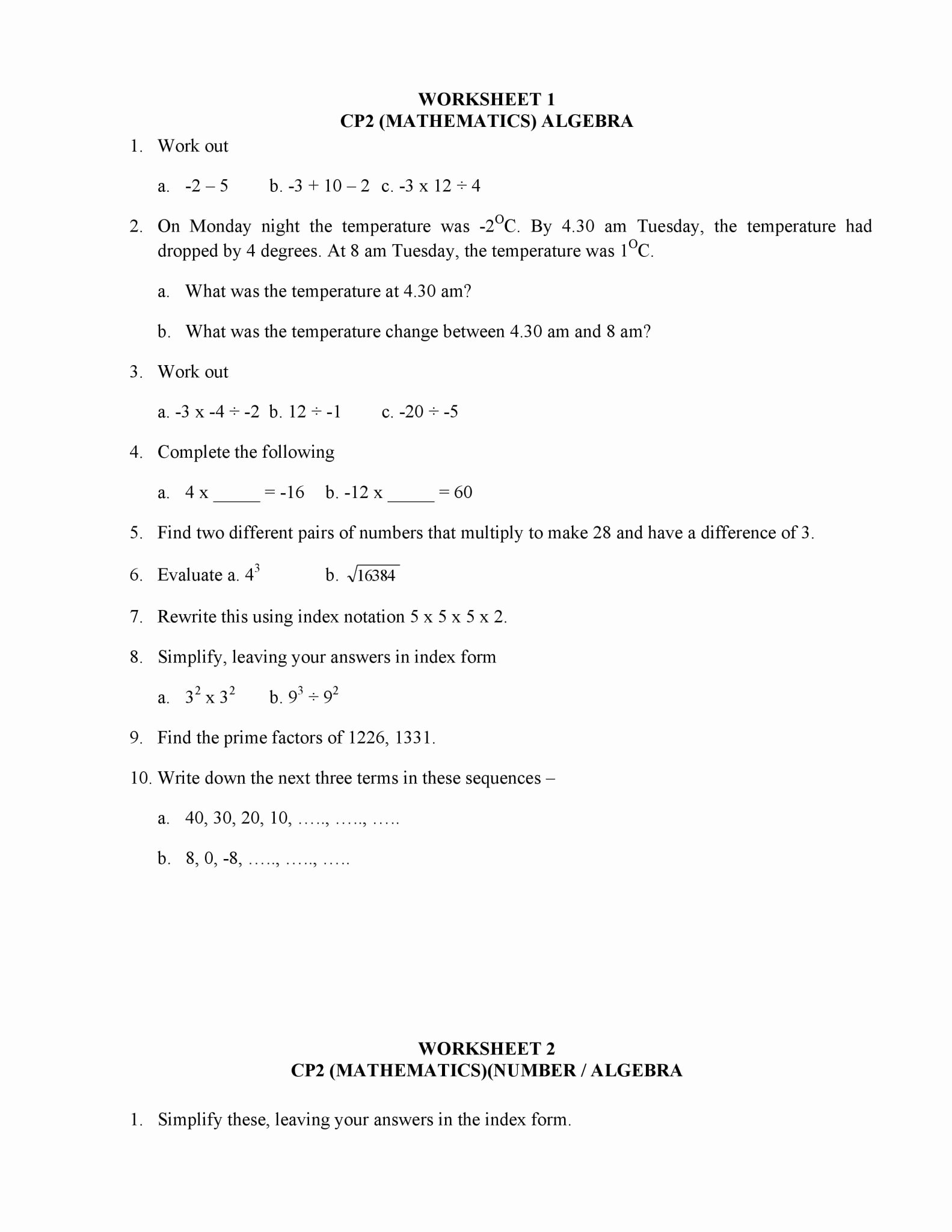Arithmetic Sequences Worksheet Answers Unique Arithmetic Sequences Worksheet 1 Answer Key