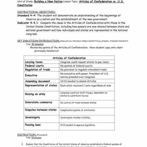 Articles Of Confederation Worksheet Answers Best Of Articles Confederation Worksheet Answers