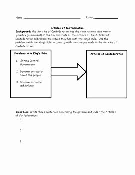 Articles Of Confederation Worksheet Answers Best Of Printables Of Weaknesses the Articles Confederation