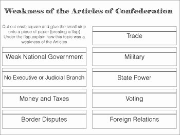 Articles Of Confederation Worksheet Best Of Printables Of Weaknesses the Articles Confederation