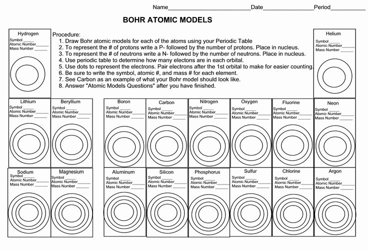 Atomic Structure Review Worksheet Best Of Best 25 Bohr Model Ideas On Pinterest