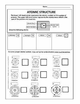 Atomic Structure Review Worksheet Luxury atomic Structure Worksheet by Scorton Creek Publishing