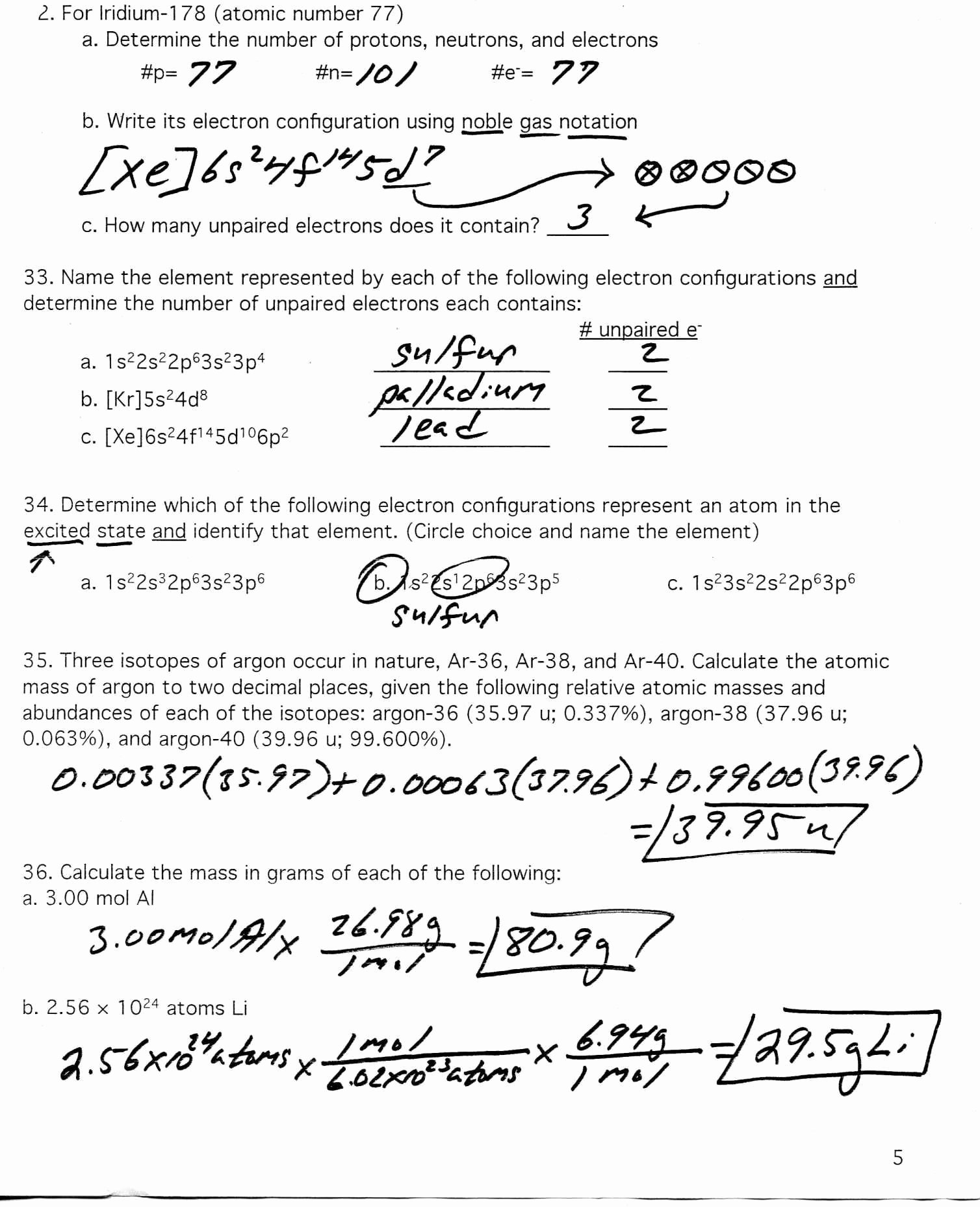Atomic Structure Worksheet Answer Key Luxury Protons Neutrons and Electrons Practice Worksheet Answer