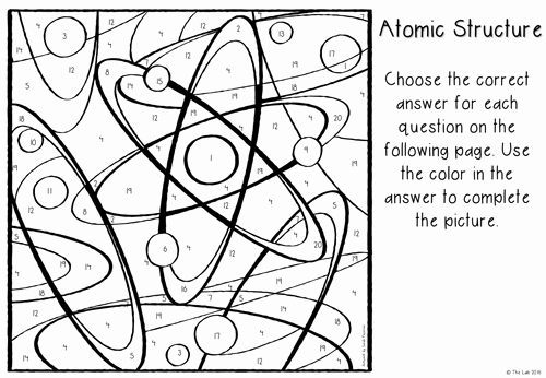 Atomic Structure Worksheet Pdf Luxury atomic Structure Color by Number by Liezelpienaar Us