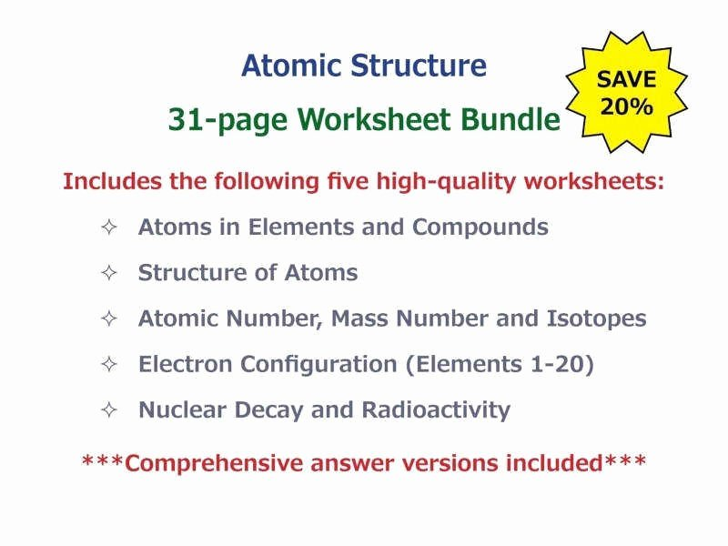 Atoms and Elements Worksheet Fresh Counting atoms Worksheet