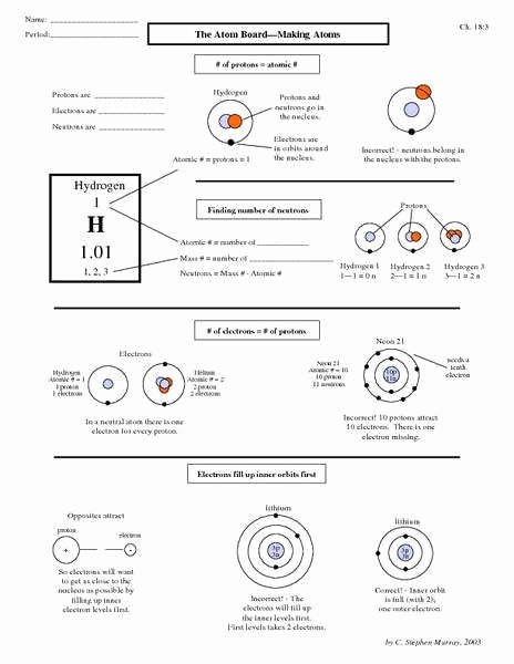 Atoms and Elements Worksheet Lovely atoms Worksheet