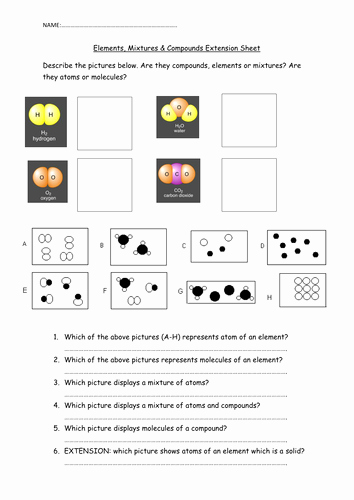 Atoms and Elements Worksheet Luxury Elements Pounds and Molecules by Aimacaulay Teaching